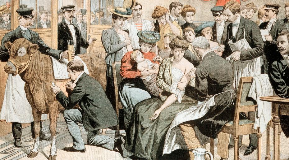 Smallpox vaccination 1853