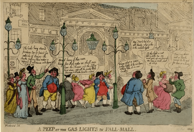 Thomas Rowlandson on the Gas Lights 1809