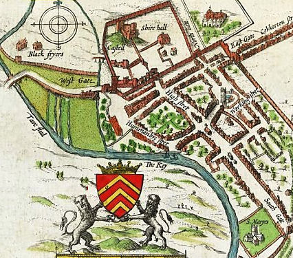 John Speed Map of Cardiff