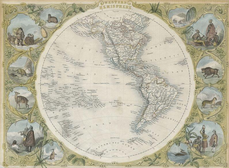 1850 Tallis Map