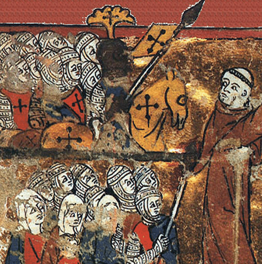 Peter the Hermit leading the First Crusade