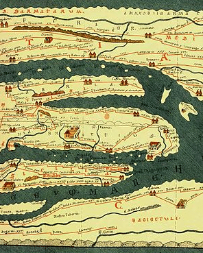 Roman road map Tabula Peutingeriana