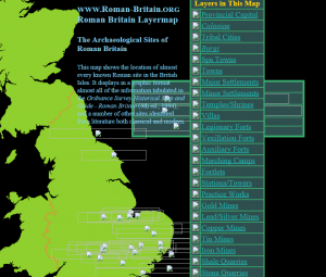 Roman archeological site map