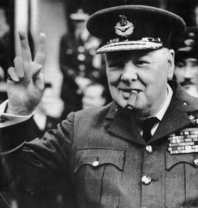 British Prime Minister Winston Churchill in Military Dress