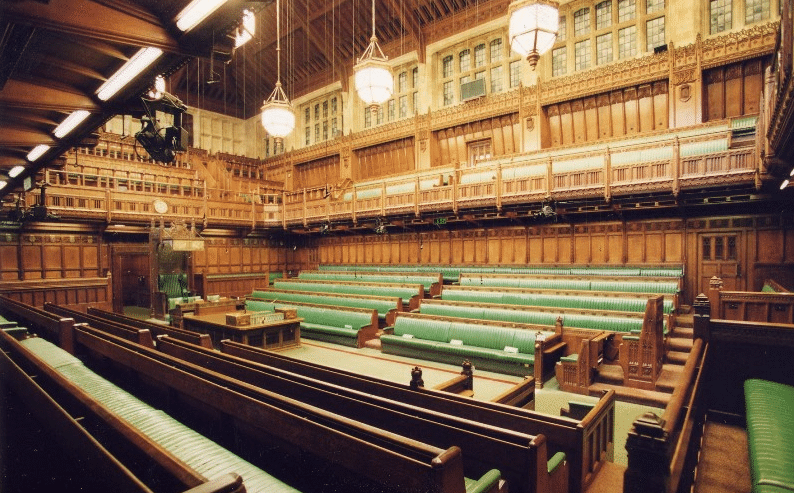 Green Seats of the House of Commons Westminster