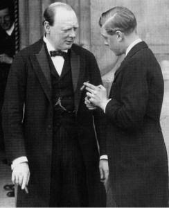 Churchill and Edward VIII later Duke of Windsor